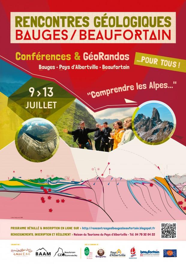 l'événement géologique de juillet : les 1éres Rencontres géologiques Bauges-Beaufortain